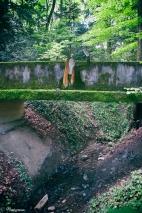 Part of a bridge