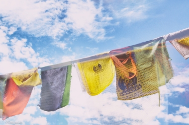 Prayer Flags (Double Exposure)