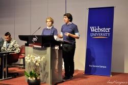 Bogdan CIUTA and Anastassiya KOTLOVA, Media Graduate Students, Webster University Geneva: The making of the International Humanitarian Conference Video Project