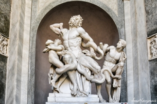The only original statue in Vatican Museum