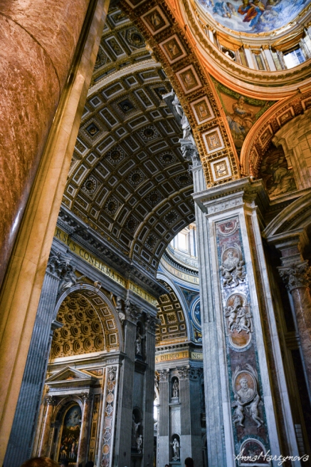 Inside the Basilica di San Pietro
