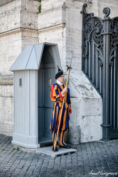 Swiss Guard in the uniform designed by Michelangelo