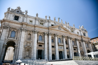 Side view on Basilica di San Pietro